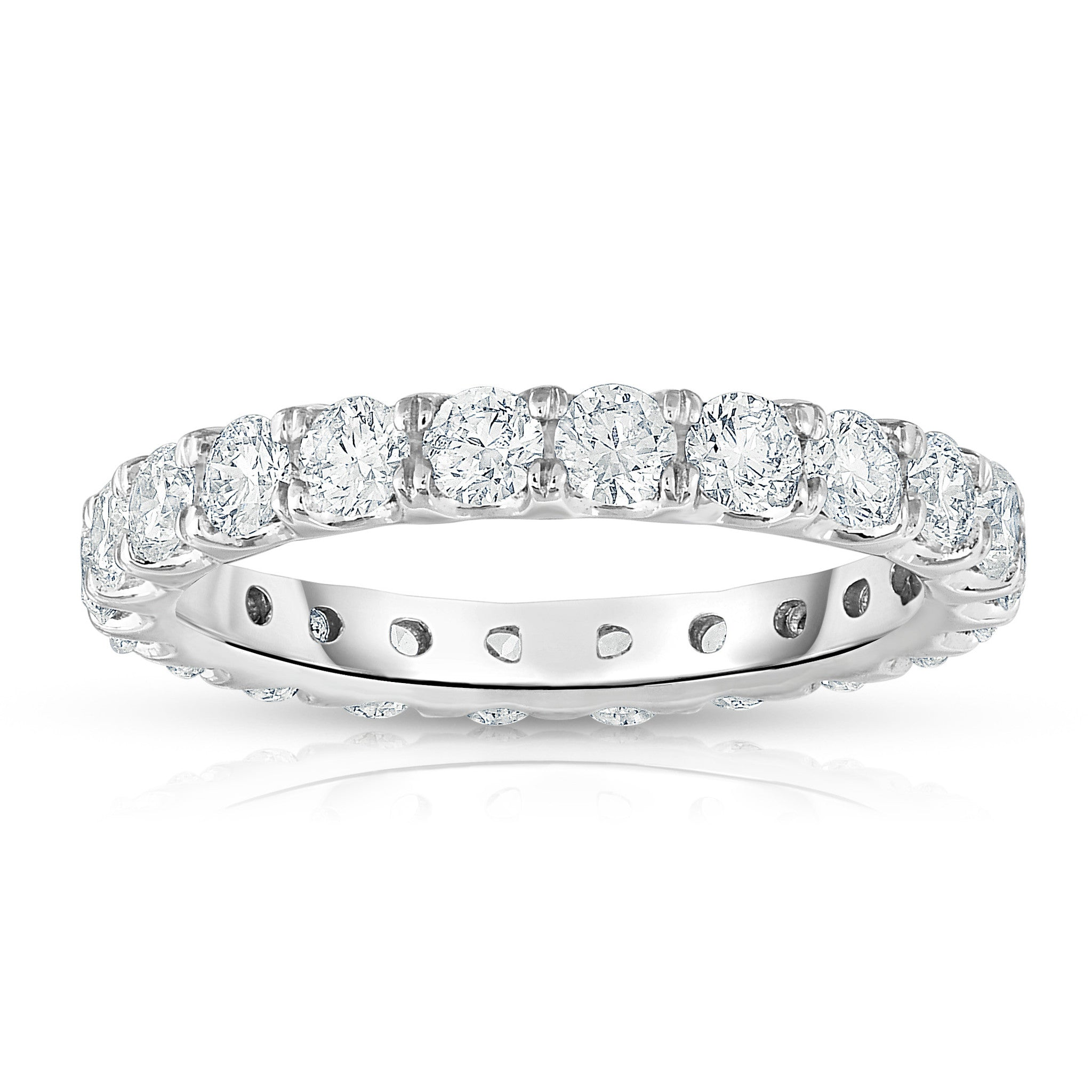 white gold eboutique half band eternity eternitry goldheart diamond ring bands