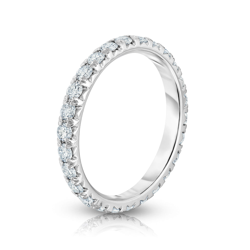 14K White Gold Diamond (0.90 Ct-1.15 Ct, G-H Color, I1-I2 Clarity) Eternity Band