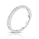 14K White Gold Diamond (0.28 Ct, G-H Color, SI2-I1 Clarity) Wedding Band