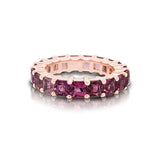 14K Gold Ombré Pink Tourmaline (3.5MM) Eternity Ring