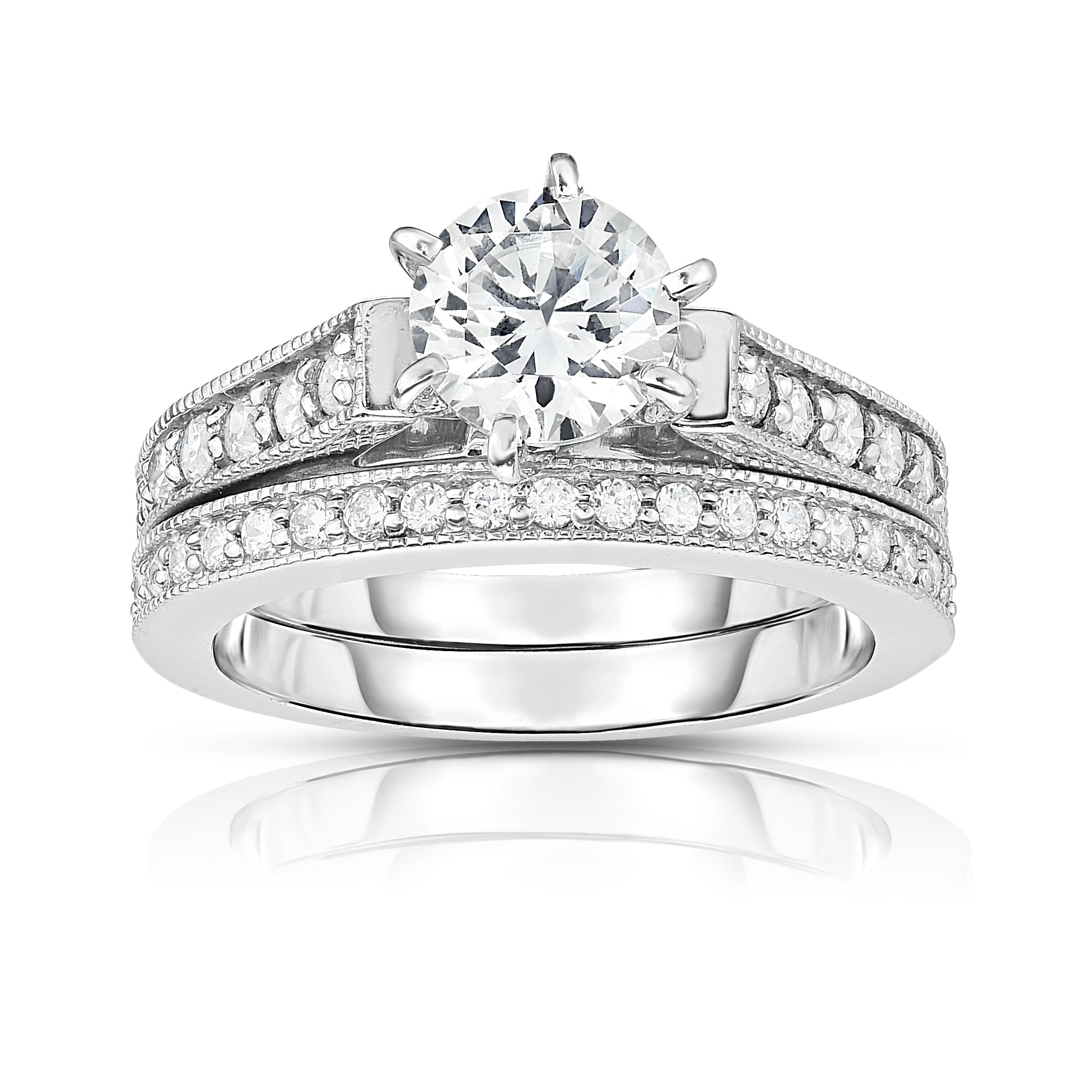 dia semi rings band solitaire in products c w total engagement prong signature on gold hof white hearts ring fire carats mount