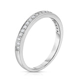 14K White Gold Diamond (0.20 Ct, G-H Color, SI2-I1 Clarity) Wedding Band
