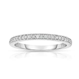 14K White Gold Diamond (0.15 Ct, G-H Color, SI2-I1 Clarity) Wedding Band