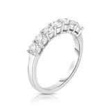 14K White Gold 7-Stone Diamond (0.80 Ct, G-H Color, SI2-I1 Clarity) Ring