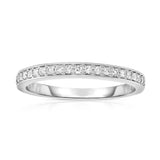 14K White Gold Diamond (1/5 Ct, SI2-I1 Clarity, G-H Color) Wedding Band