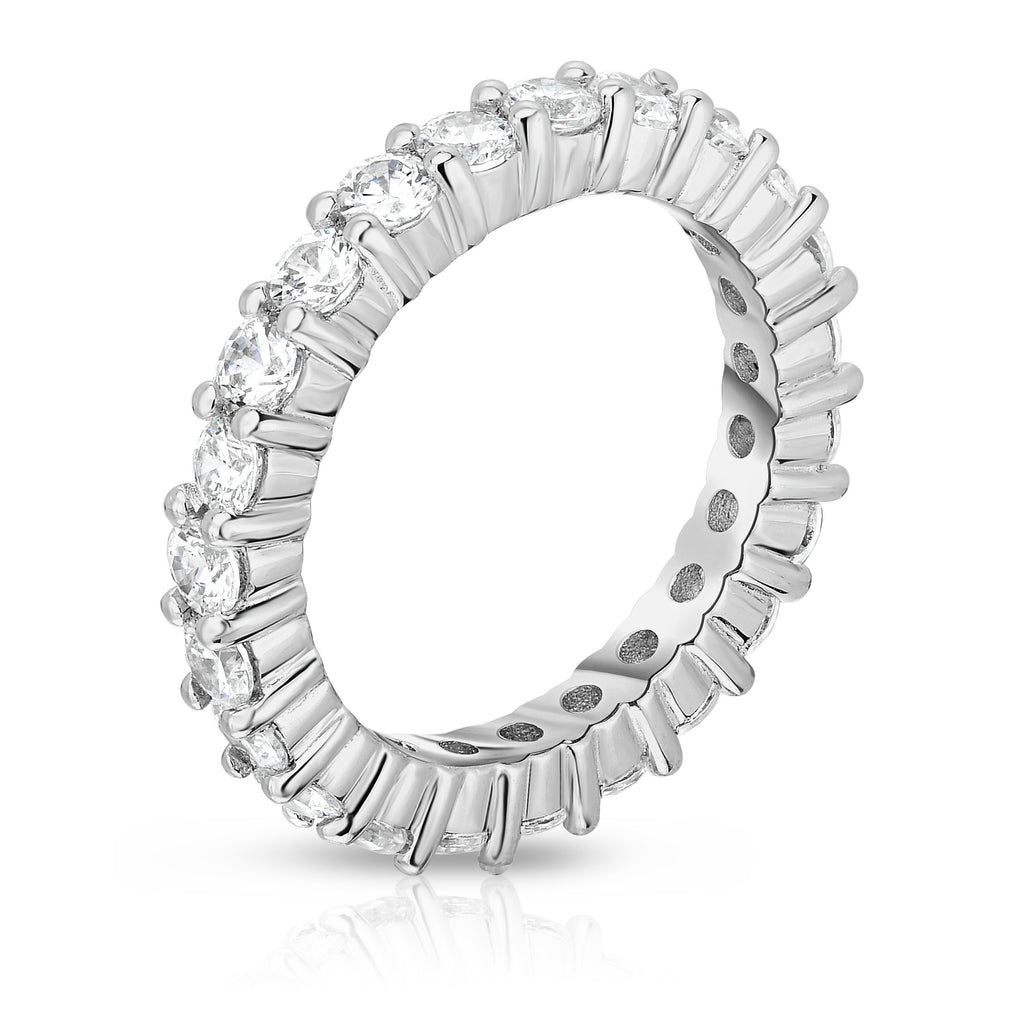 14K White Gold Diamond (2.00 Ct-2.30 Ct, G-H Color, SI2-I1 Clarity) Eternity Ring