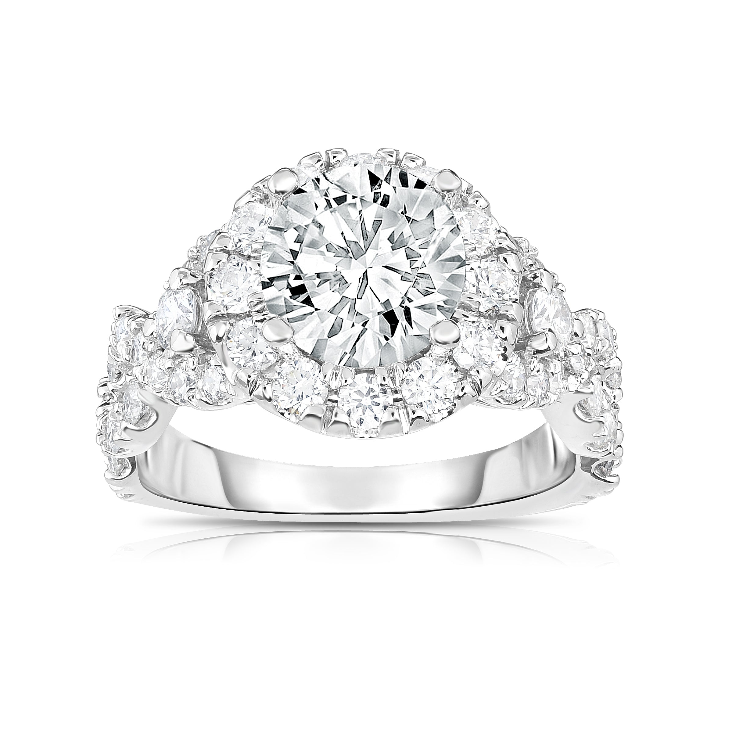 a4739b951a646 GIA Certified 14K White Gold Diamond (2.70 Ct, SI2 Clarity, G Color)  Engagement Ring