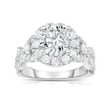 GIA Certified 14K White Gold Diamond (2.70 Ct, SI2 Clarity, G Color) Engagement Ring