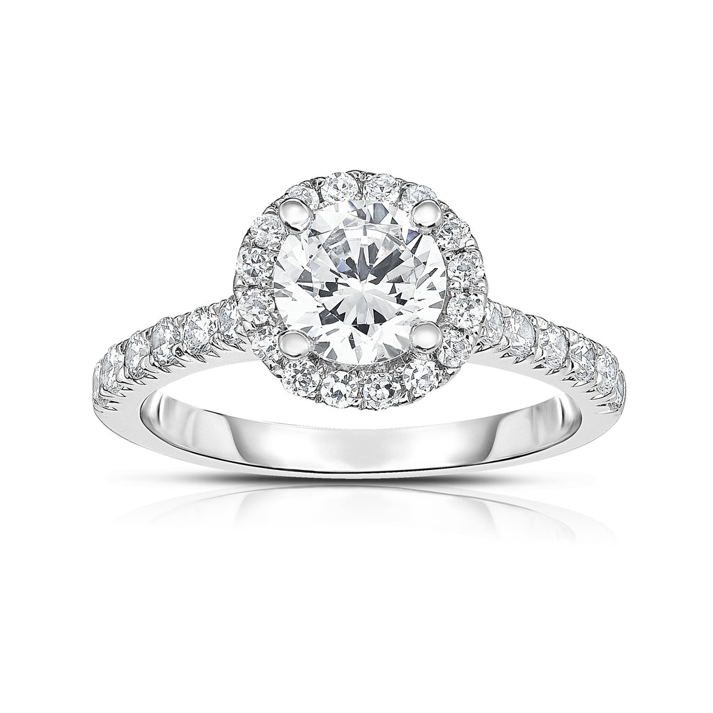 GIA Certified 14K White Gold Diamond (1.50 Ct, G Color, SI2 Clarity) Solitaire Ring