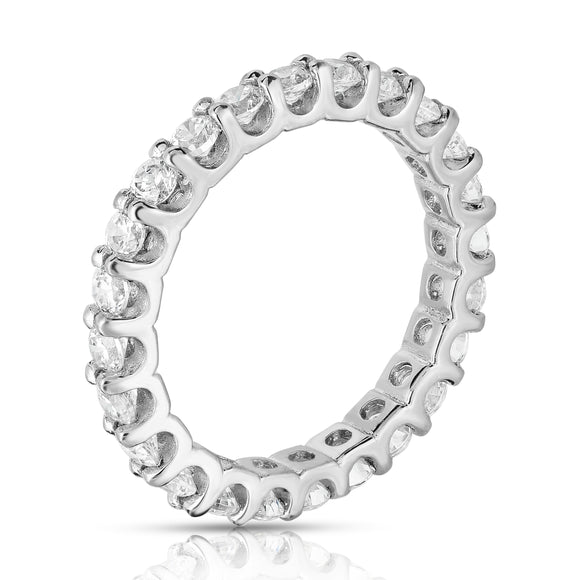 14K White Gold Diamond (1.20-1.35 Ct, G-H Color, SI2-I1 Clarity) Eternity Band