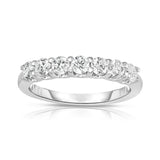 14K White Gold 7-stone Diamond ( 3/4 Ct, G-H Color, SI2-I1 Clarity) Ring