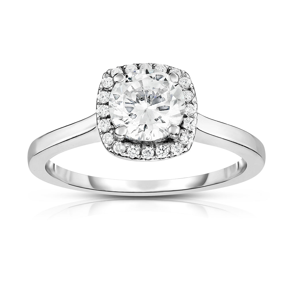GIA Certified 14K White Gold Diamond (0.60-1.12 Ct, G Color, SI2 Clarity) Solitaire Ring