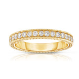 14K White, Yellow & Rose Gold (0.70 Ct, G-H, SI2-I1 Clarity) Stackable Ring