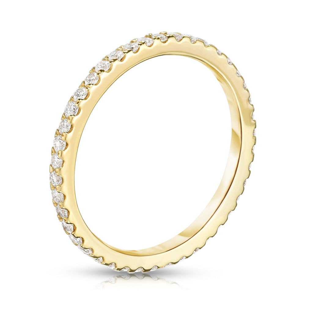 14K Yellow Gold Diamond (0.40 Ct, G-H Color, SI2-I1 Clarity) Eternity Wedding Band