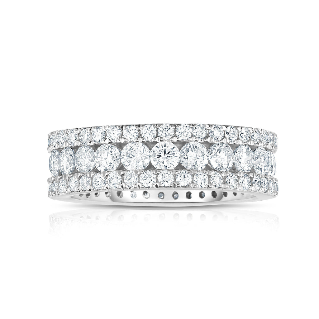 14K White Gold Diamond (2.65 Ct, G-H Color, SI2-I1 Clarity) Ring