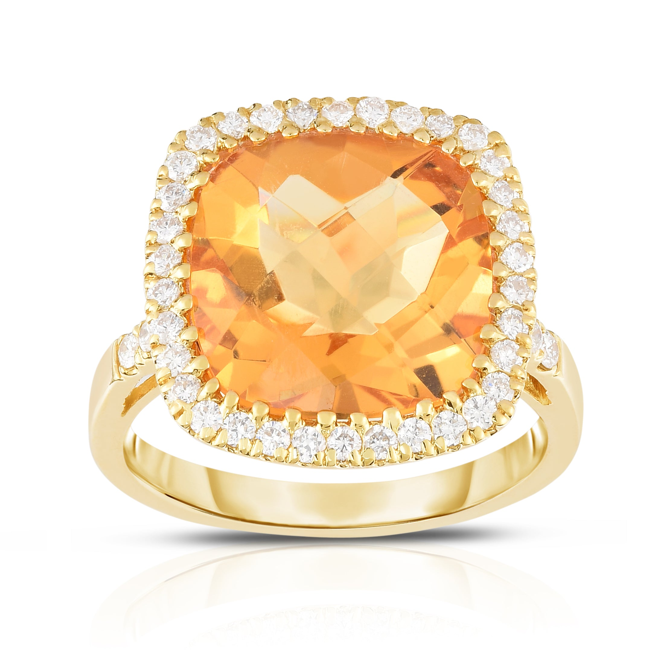 engagement orange rings sapphire with in gold zahm philip oval ring diamonds white tw