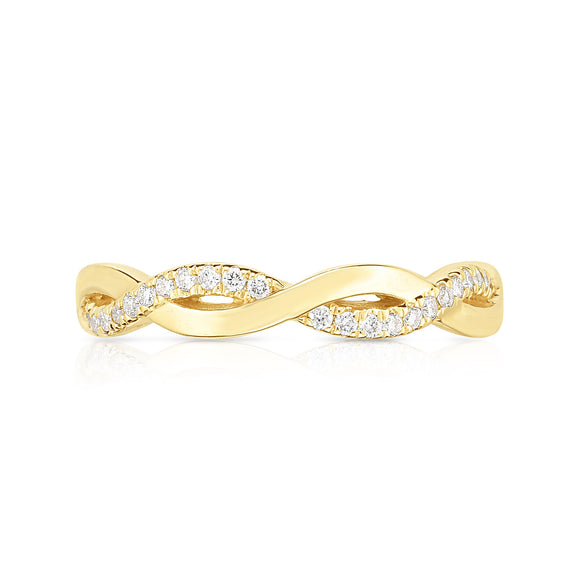 14K Gold Diamond (0.11 Ct, G-H Color, SI2-I1 Clarity) Infinity Ring