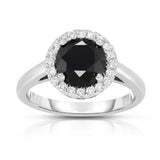 14K White Gold 2.84 ct TDW Black and White Diamond (SI2-I1, G-H) Ring