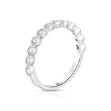 14K Gold Diamond (0.18 Ct, I1-I2 Clarity, G-H Color) Stackable Miligrain Ring