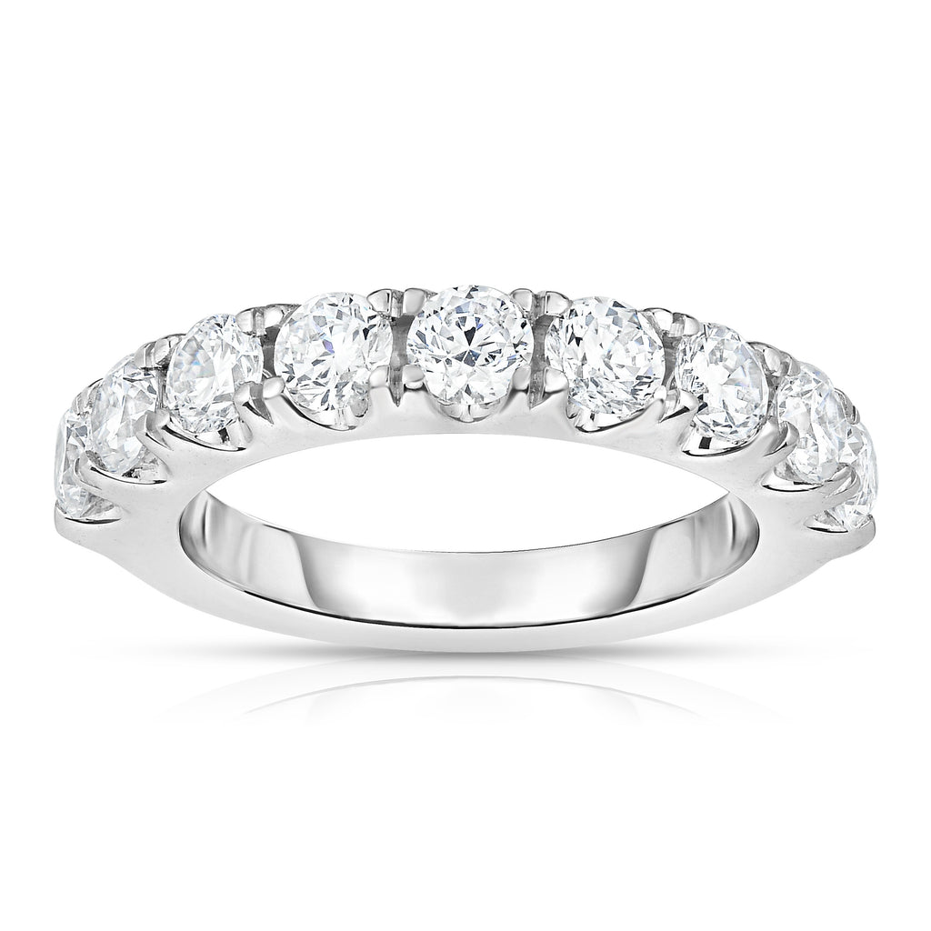14K White Gold Diamond (2 Ct, G-H Color, SI2-I1 Clarity) Wedding Band
