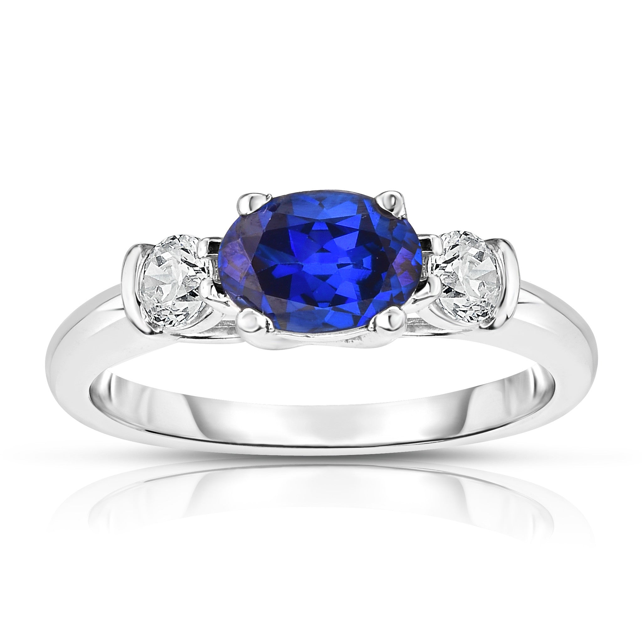 designers eli rings halo with edge cushion sapphire ring jewels inverted diamond engagement blue