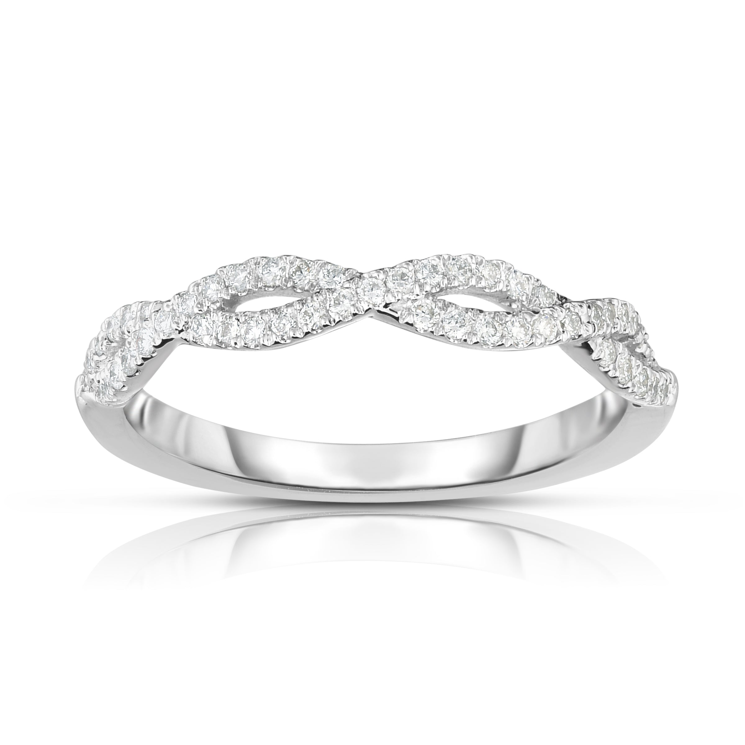silver ring infinity ctw diamond rings engagement jewelry