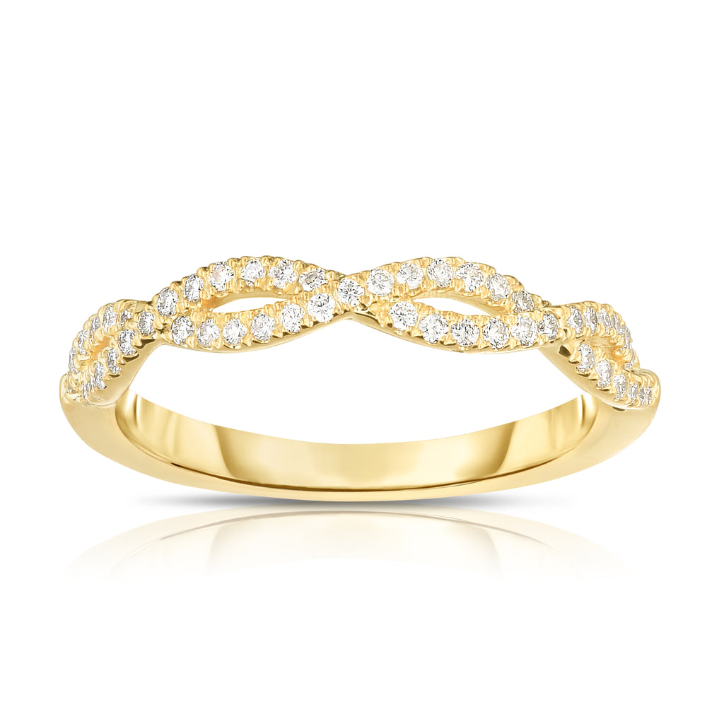 Noray Designs 14K Gold Diamond (0.25 Ct, G-H Color, SI2-I1 Clarity) Infinity Ring
