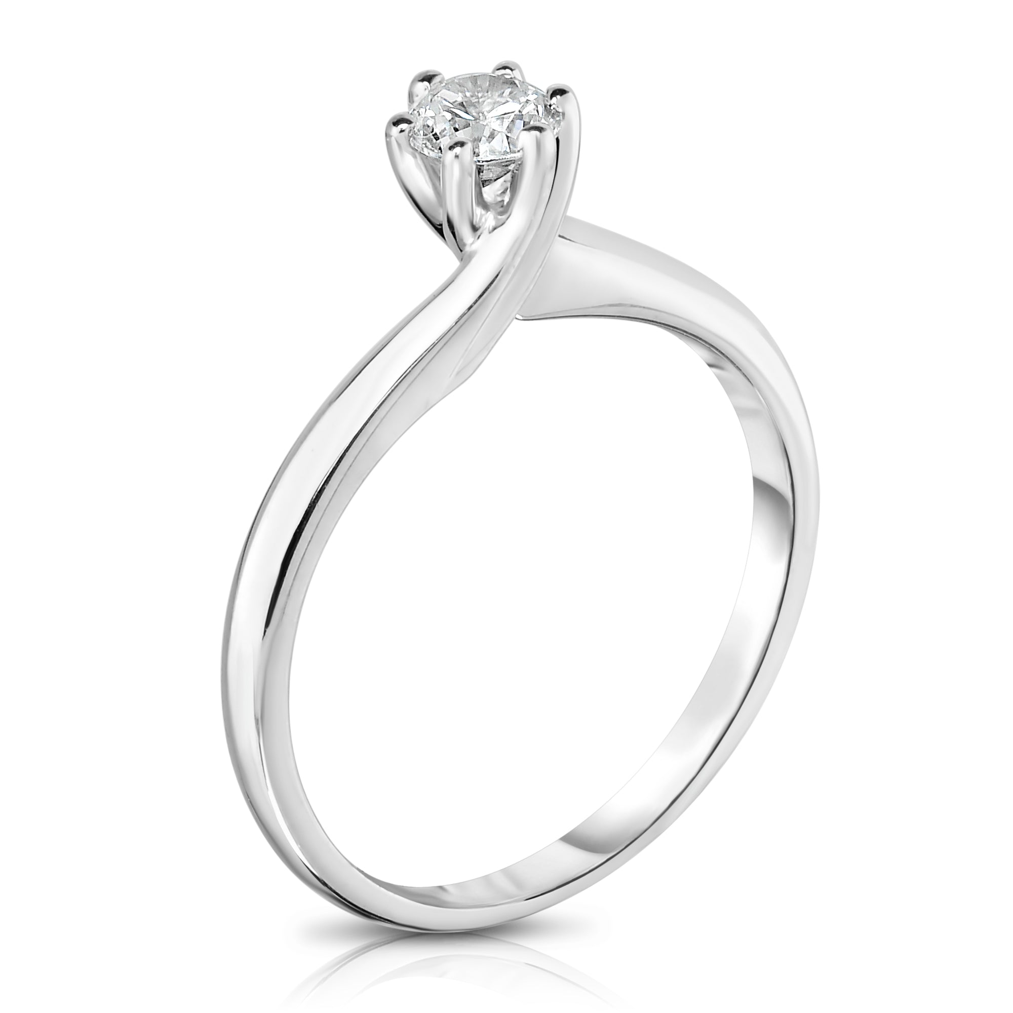 gold prong dia engagement on white hof mount carats solitaire band semi total ring signature in w rings products fire c hearts