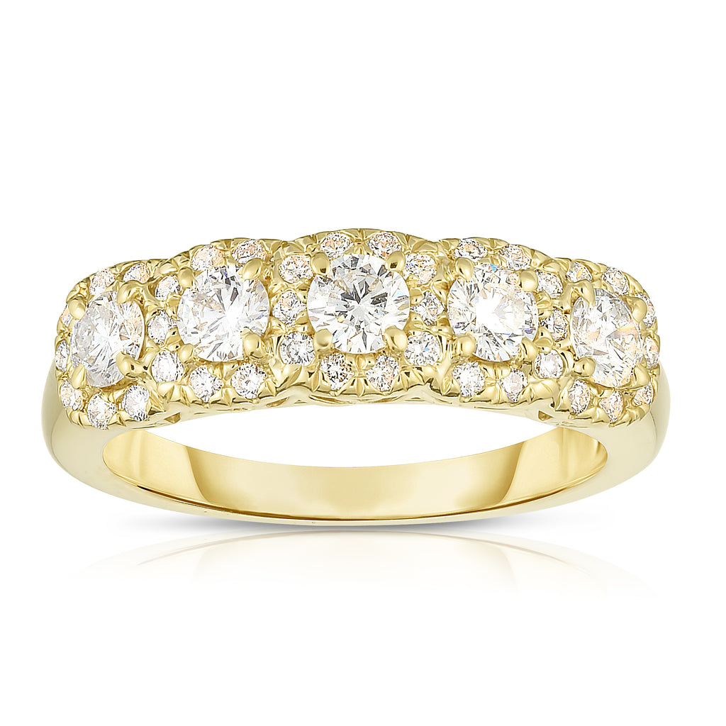 14K Gold Diamond (1.15 Ct, G-H Color, SI2-I1 Clarity) Wedding Ring