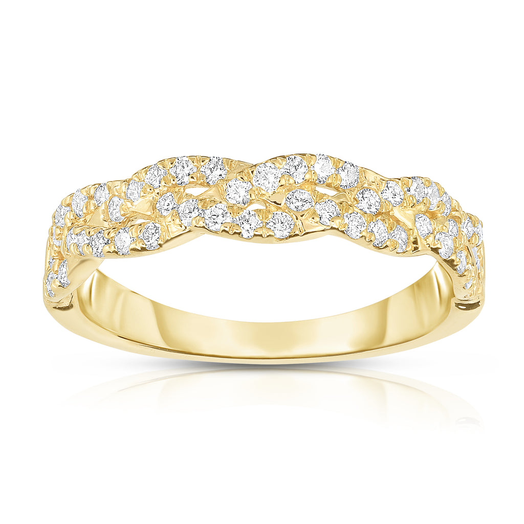14k White, Yellow or Rose Gold Diamond (0.45 Ct, G-H Color, SI2-I1 Clarity) Infinity Ring