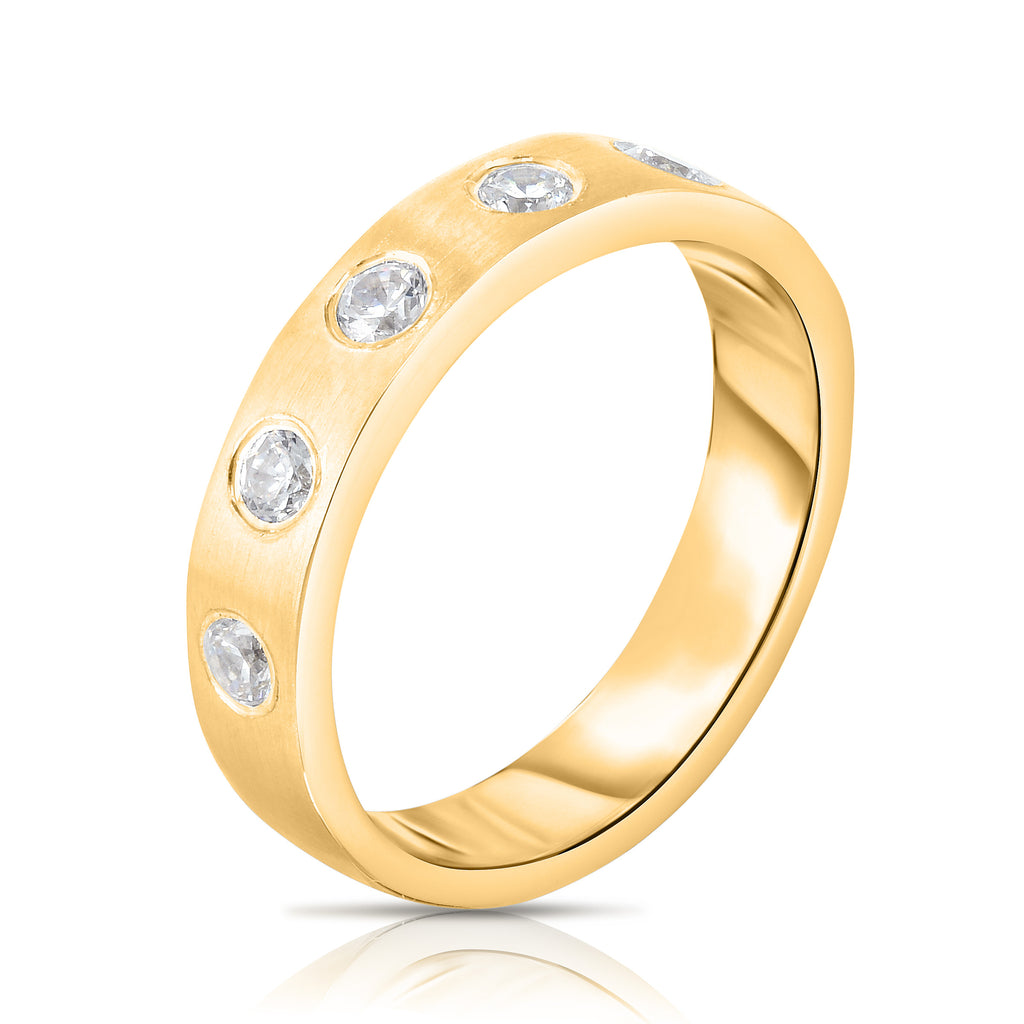 14K Gold Diamond (0.40 Ct, G-H Color, SI2-I1 Clarity) Ring