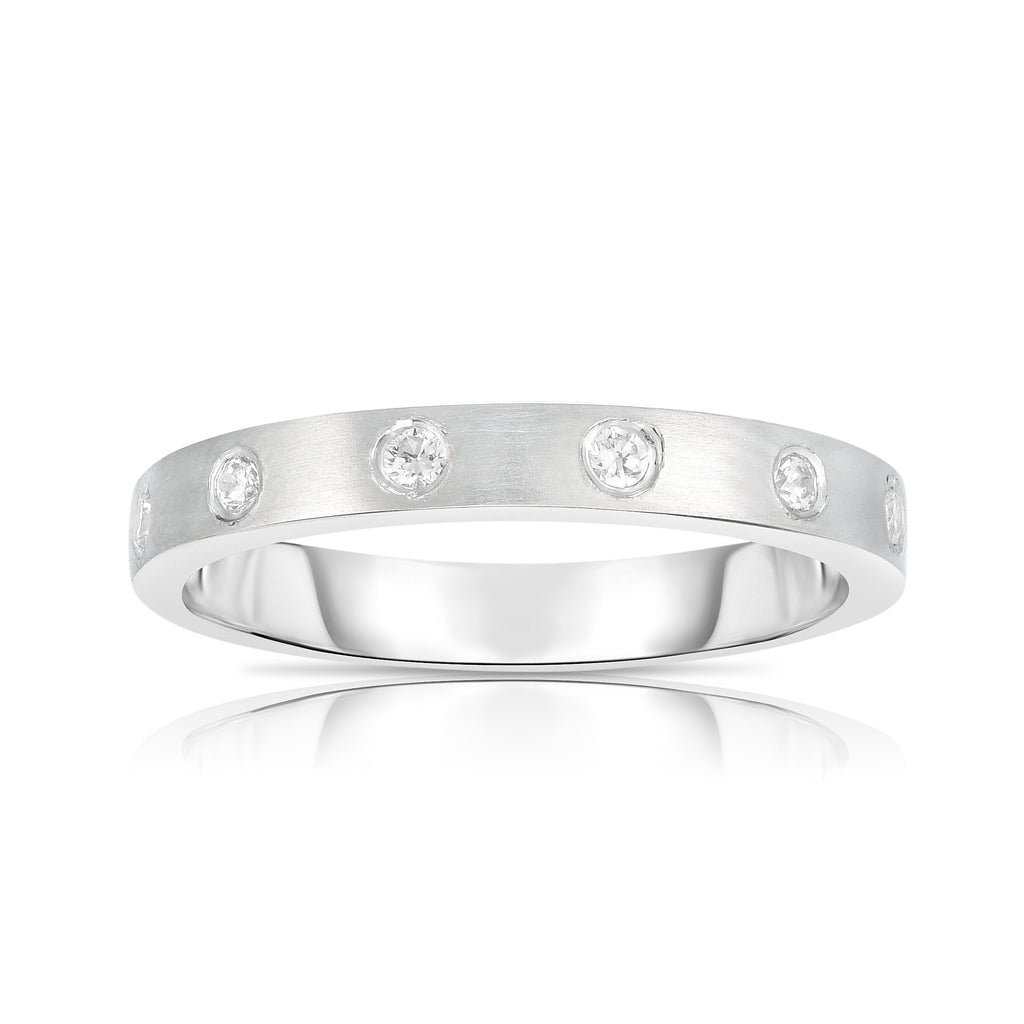 14K White Gold Diamond (0.15 Ct, G-H Color, SI2-I1 Clarity) Ring