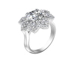 14K White Gold Diamond (2.40 Ct, G-H Color, SI2-I1 Clarity) Engagement Ring