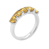 14K Gold Cushion 4x4MM Citrine Ring