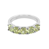 14K Gold Cushion 4x4MM Peridot Ring