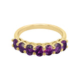 14K Gold Oval 4x3MM Purple Sapphire Ring