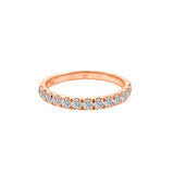14K Gold Diamond Wedding Band (0.50 Ct, G-H Color, SI2-I1 Clarity)
