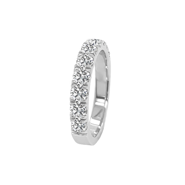 14K Gold Diamond Wedding Band (0.75 Ct, G-H Color, SI2-I1 Clarity)