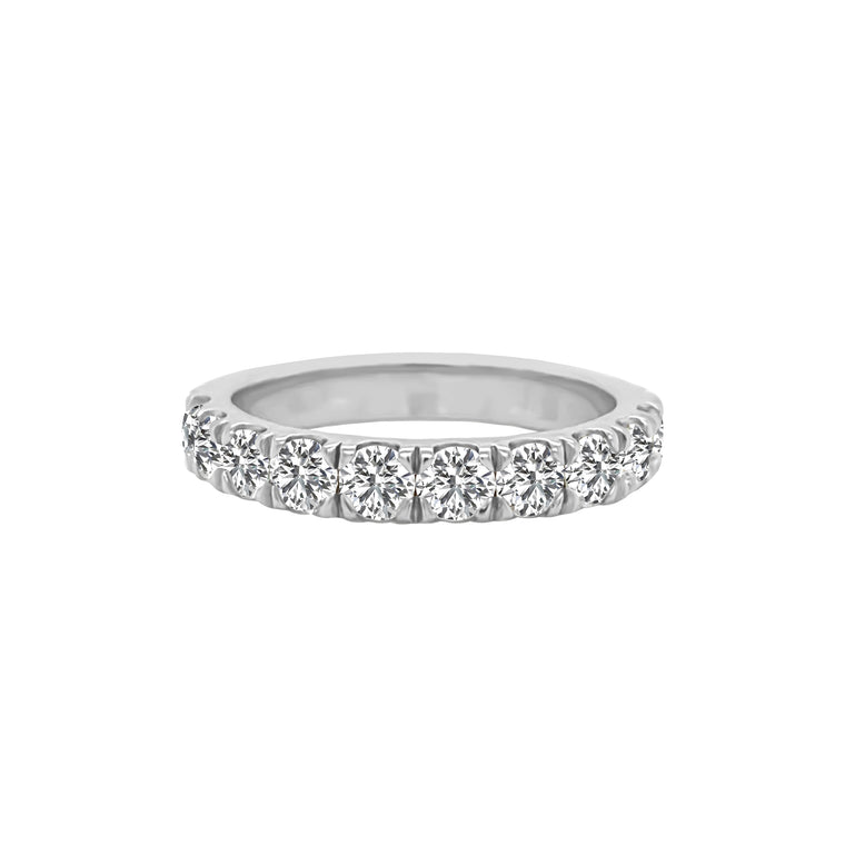 14K Gold Diamond Wedding Band (1.00 Ct, G-H Color, SI2-I1 Clarity)
