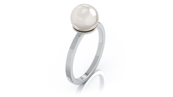 14K Gold 8MM Akoya Cultured Pearl Ring