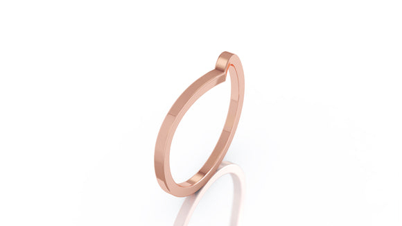14K Gold Curved Stackable Ring