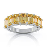 14K Gold 6x4MM Emerald Cut Gemstone Ring