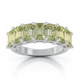 Sterling Silver 6x4MM Emerald Cut Gemstone Ring