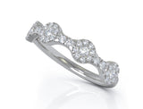 14K White Gold Diamond (0.35 Ct, G-H Color, SI2-I1 Clarity) Ring