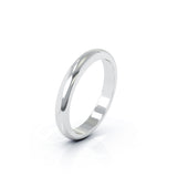 14K Gold Domed Profile 3MM High Polished Wedding Band