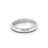 Platinum Domed Profile 3MM High Polished Wedding Band