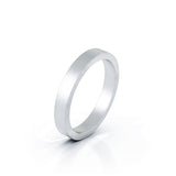 Sterling Silver Square Profile 3MM Matte Finish Wedding Band