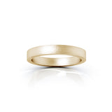 14K Gold Square Profile 3MM Matte Finish Wedding Band