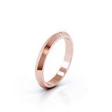 18K Gold Triangle Profile 3MM High Polished Wedding Band