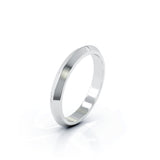 Platinum Triangle Profile 3MM High Polished Wedding Band